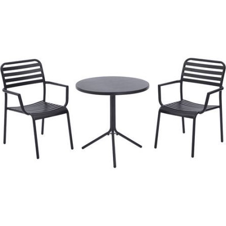 Preferred Amazon : Better Homes And Gardens Tarleton 3 Piece Bistro Set Pertaining To Tarleton 5 Piece Dining Sets (Gallery 10 of 20)