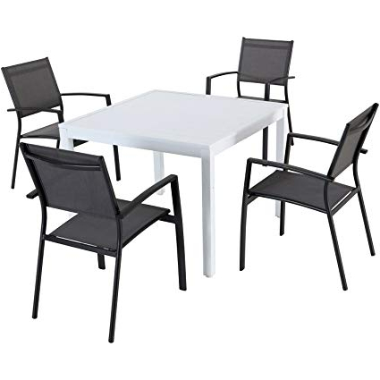 Preferred Amazon : Hanover Deldns5Pcsq Wg Del Mar (5 Piece) Dining Set Regarding Delmar 5 Piece Dining Sets (View 17 of 20)