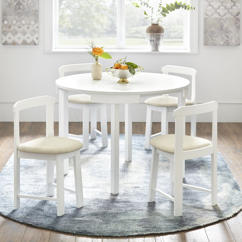 Preferred Bryson 5 Piece Dining Sets For Mabelle 5 Piece Dining Set & Reviews (View 16 of 20)
