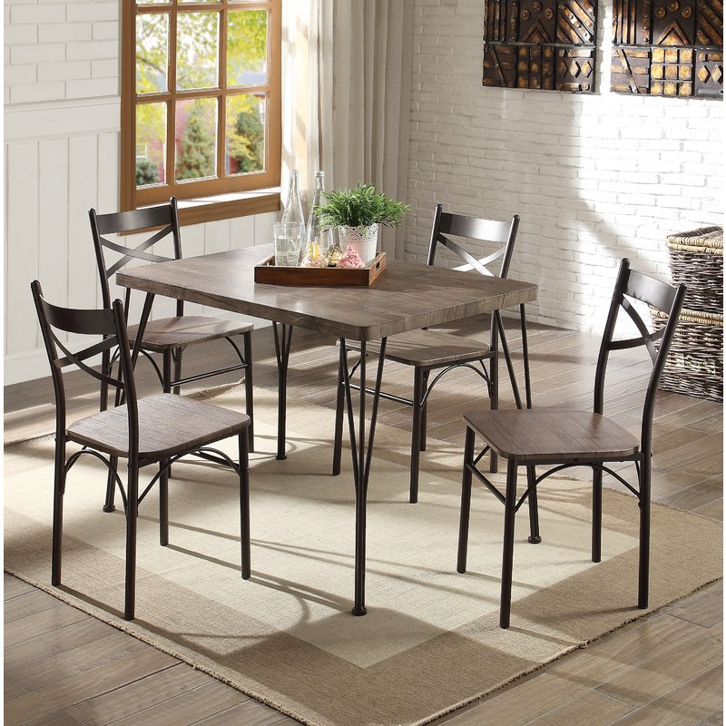 Preferred Conover 5 Piece Dining Sets For Andover Mills Middleport 5 Piece Dining Set & Reviews (Gallery 4 of 20)
