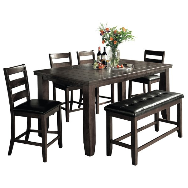 Preferred Kerley 4 Piece Dining Sets Regarding ⭕ Onsale Bridlewood 6 Piece Counter Height Dining Setloon Peak (View 13 of 20)