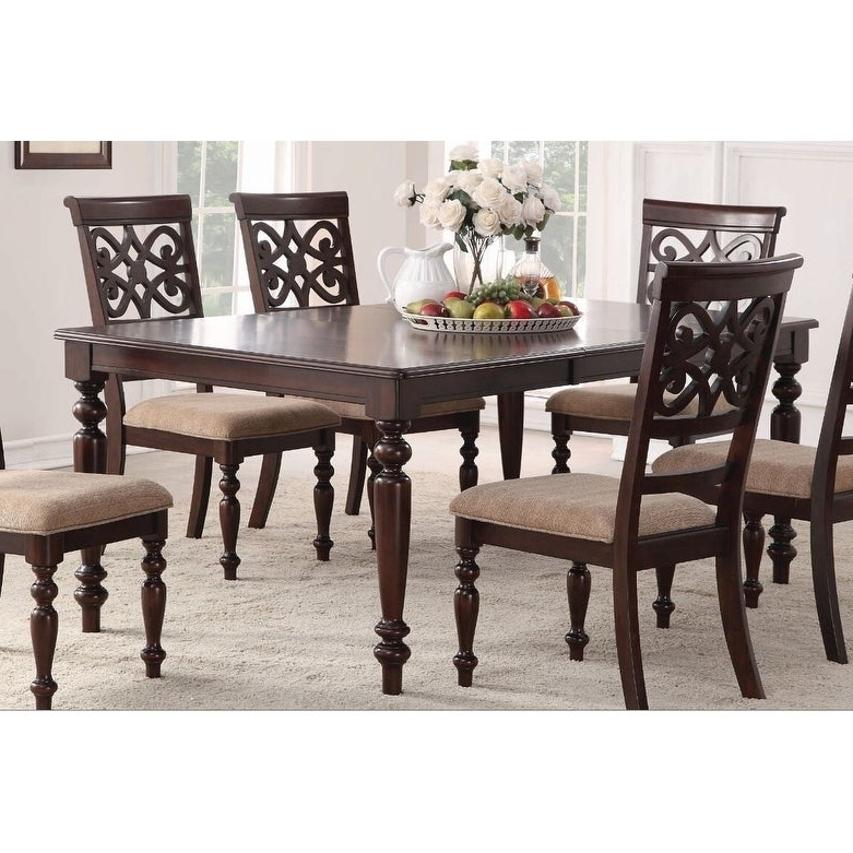 Preferred Laconia 7 Pieces Solid Wood Dining Sets (Set Of 7) Pertaining To Shop Home Source Laconia Walnut 7 Piece Dining Set – Free Shipping (View 9 of 20)