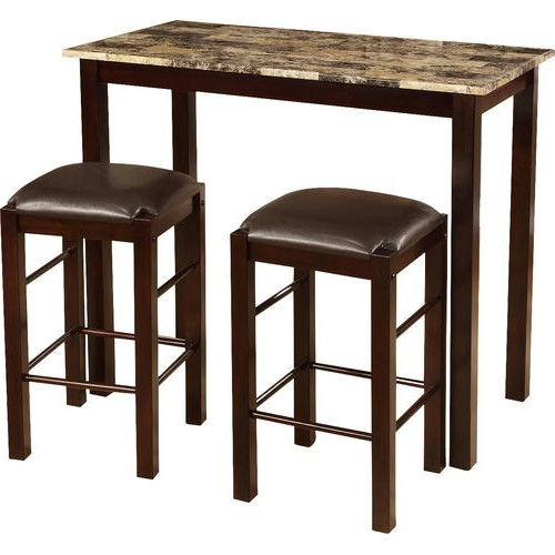 Preferred Tenney 3 Piece Counter Height Dining Sets In Found It At Wayfair – Brando 3 Piece Counter Height Dining Set (View 4 of 20)