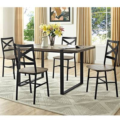 Preferred Wholesale Interiors Baxton Studio Keitaro 5 Piece Dining Set With Baxton Studio Keitaro 5 Piece Dining Sets (Gallery 13 of 20)