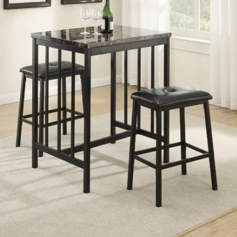 Presson 3 Piece Counter Height Dining Sets Regarding Most Recent A&j Homes Studio Kernville 3 Piece Counter Height Dining Set (View 2 of 20)