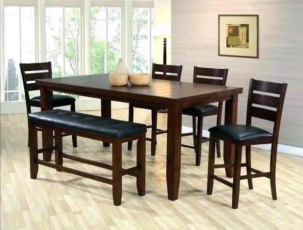 Putney 5 Piece Counter Height Breakfast Nook Dining Set Bar Inside Most Current Denzel 5 Piece Counter Height Breakfast Nook Dining Sets (View 15 of 20)