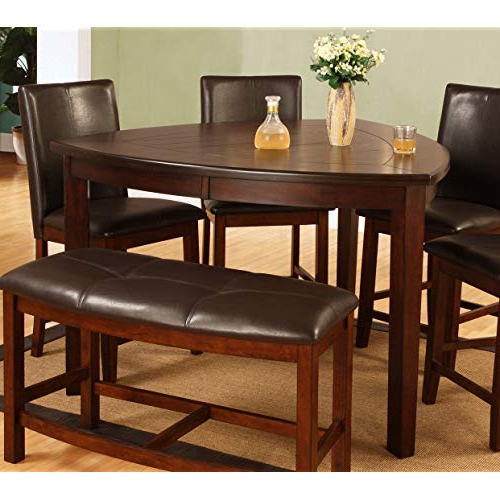 Recent Amir 5 Piece Solid Wood Dining Sets (set Of 5) For Triangle Dining Table: Amazon (View 6 of 20)