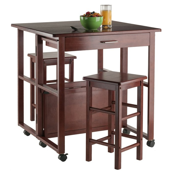 Recent Crownover 3 Piece Bar Table Sets Within Red Barrel Studio Crownover 3 Piece Bar Table Set & Reviews (View 4 of 20)