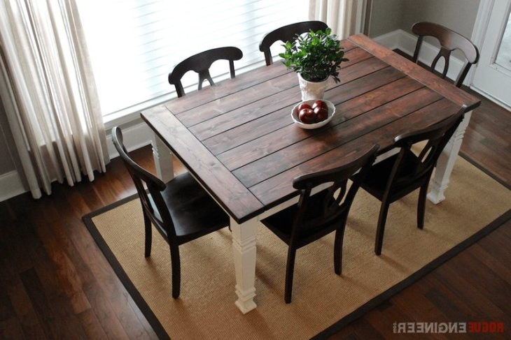 Recent Falmer 3 Piece Solid Wood Dining Sets Regarding Diy Farmhouse Table (View 13 of 20)