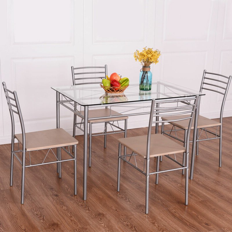 Recent Stouferberg 5 Piece Dining Sets Within Winston Porter Stouferberg 5 Piece Dining Set (View 14 of 20)