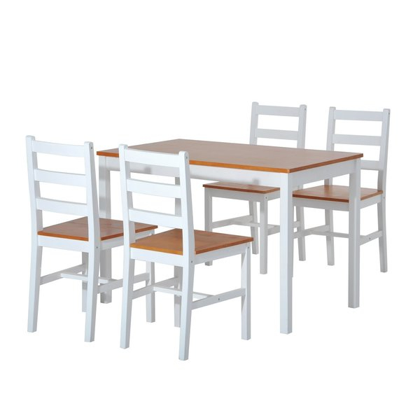 Recent Yedinak 5 Piece Dining Set Winston Porter Spectacular Sales For Within Yedinak 5 Piece Solid Wood Dining Sets (View 8 of 20)