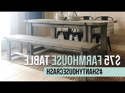 Recent Yedinak 5 Piece Solid Wood Dining Sets Inside $75 Farmhouse Dining Table Build (View 9 of 20)