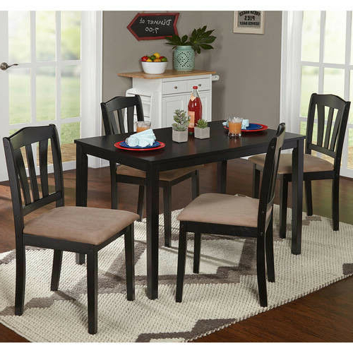 Rectangle Dining Set Wood Kitchen Indoor 5piece Water Resistant With Regard To Preferred Tejeda 5 Piece Dining Sets (View 9 of 20)