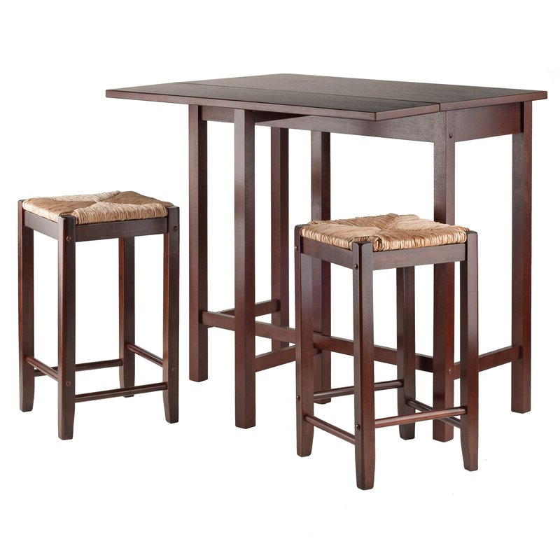 Red Barrel Studio Bettencourt 3 Piece Counter Height Solid Wood For Most Recent Bettencourt 3 Piece Counter Height Dining Sets (View 17 of 20)