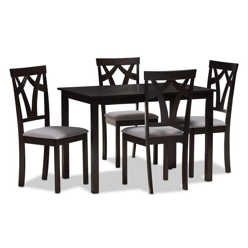 Red Barrel Studio Commodore Singh Modern And Contemporary 5 Piece Throughout Latest 5 Piece Breakfast Nook Dining Sets (View 19 of 20)