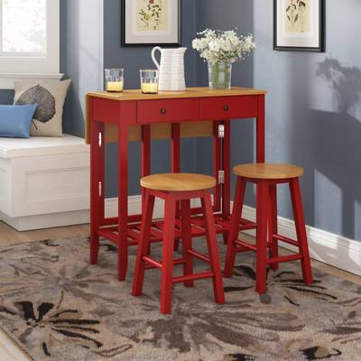 Red Barrel Studio Crownover 3 Piece Bar Table Set & Reviews (View 8 of 20)