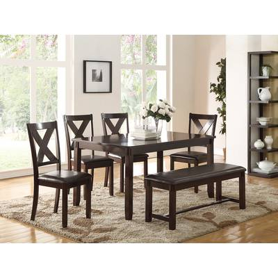 Red Barrel Studio Osterman 6 Piece Extendable Dining Set (View 11 of 20)