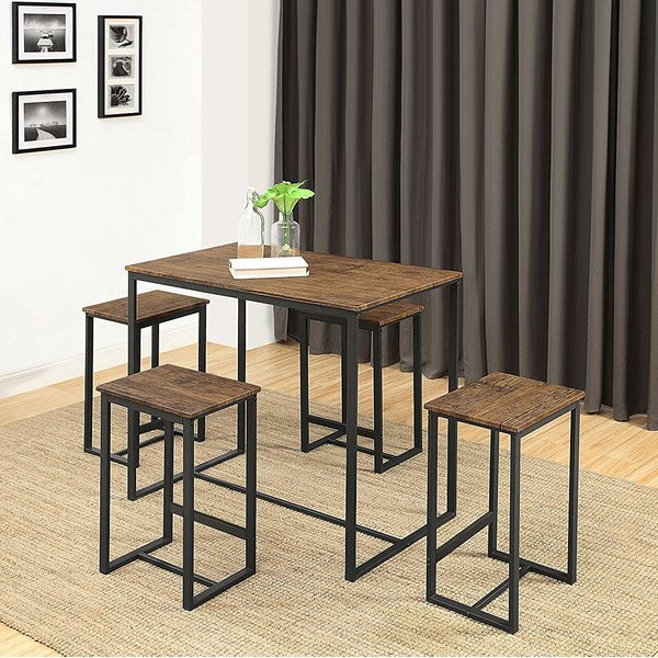 Reviews Delmar 5 Piece Dining Setwilliston Forge Purchase On Throughout Current Delmar 5 Piece Dining Sets (View 18 of 20)