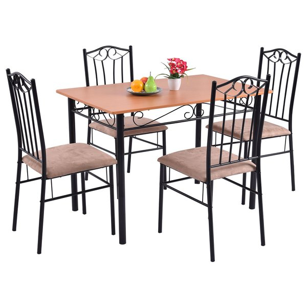 Rossi 5 Piece Dining Sets With Regard To Newest Fleur De Lis Living Rossi 5 Piece Dining Set & Reviews (View 2 of 20)