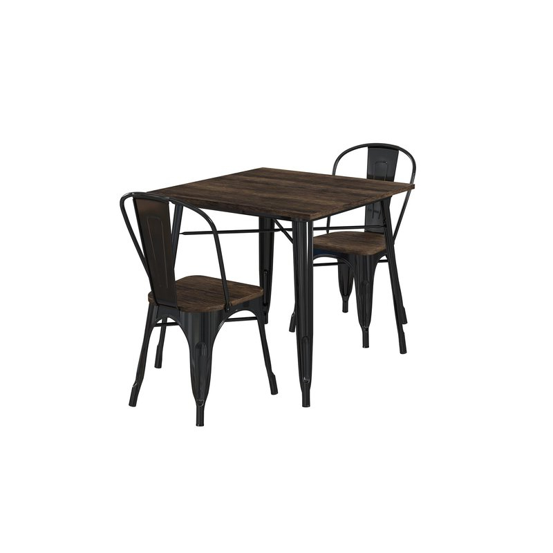 Rossiter 3 Piece Dining Sets With Regard To Popular Pullman 3 Piece Dining Set & Reviews (View 16 of 20)