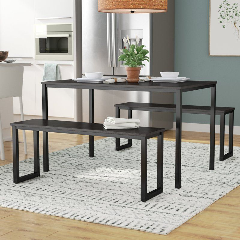 Rudder 3 Piece Dining Set (View 3 of 20)