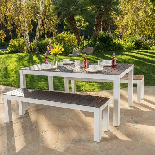 Saintcroix 3 Piece Dining Sets Throughout Famous $325 Found It At Allmodern – St Croix 3 Piece Wood Picnic Set (View 11 of 20)