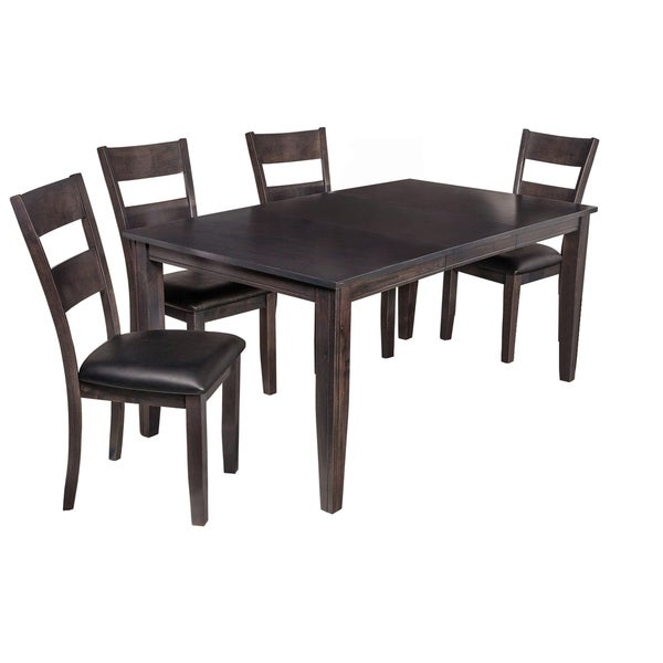 "Shop 5 Piece Solid Wood Dining Set ""aden"", Modern Kitchen Table Set In Recent Adan 5 Piece Solid Wood Dining Sets (Set Of 5) (Gallery 2 of 20)"