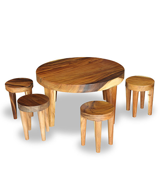 Shop Furniture Online In Singapore With Most Popular Adan 5 Piece Solid Wood Dining Sets (Set Of 5) (Gallery 20 of 20)