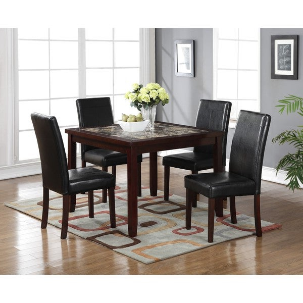 Shop Lyke Home Aria 5 Piece Square Pub Dining Set – Free Shipping Intended For Fashionable Aria 5 Piece Dining Sets (Gallery 1 of 20)