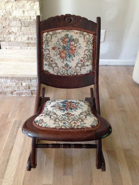 Solid Wood Antique Folding Rocking Chair (View 11 of 20)