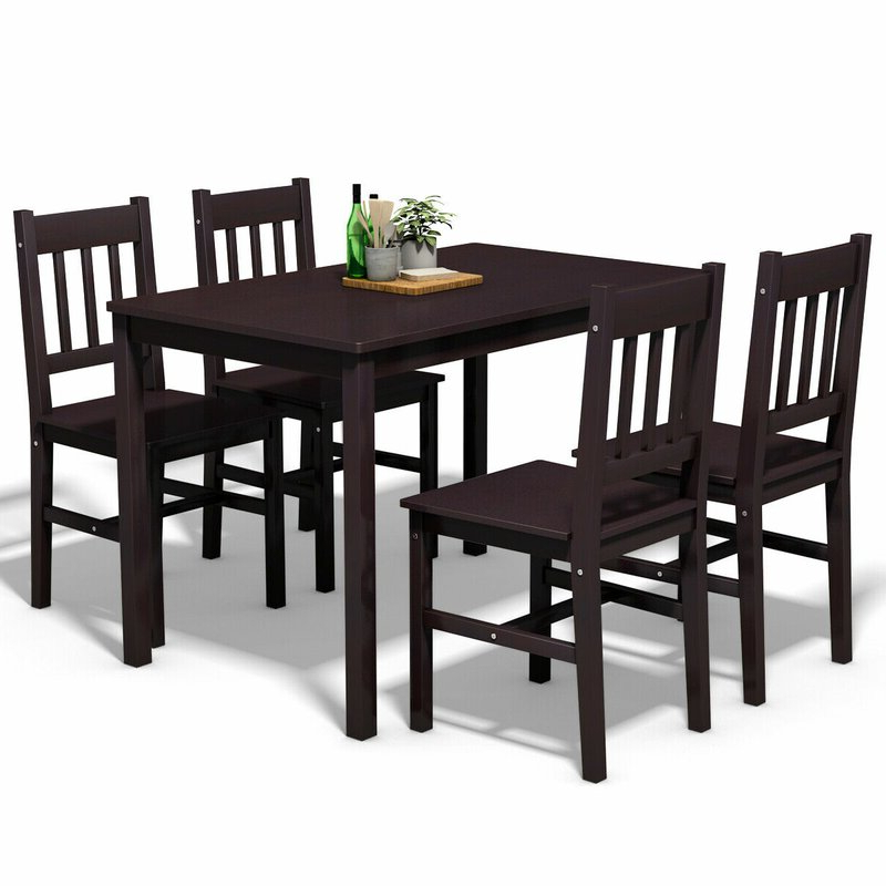 Featured Photo of Sundberg 5 Piece Solid Wood Dining Sets