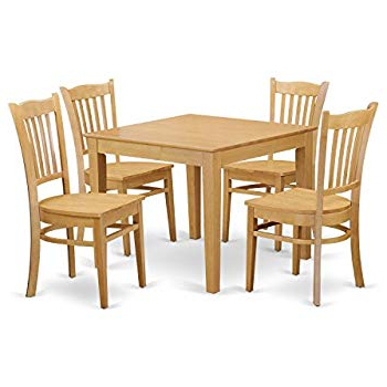 Sundberg 5 Piece Solid Wood Dining Sets Pertaining To Widely Used Amazon – Winsome Groveland 5 Piece Wood Dining Set, Light Oak (View 11 of 20)