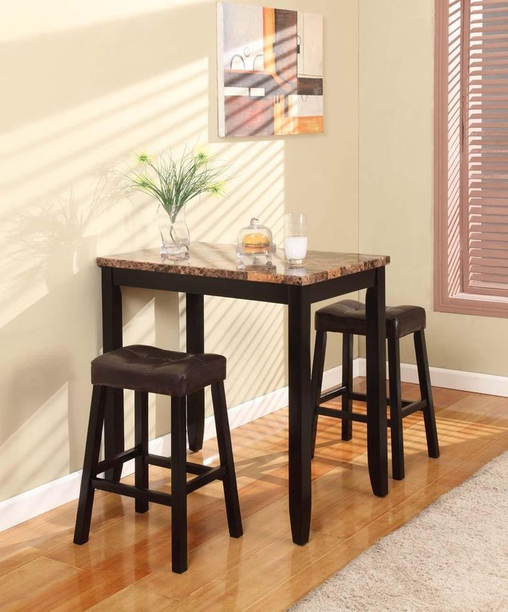 Tappahannock 3 Piece Counter Height Dining Sets For Current 3 Piece Kitchen Table Set & (View 14 of 20)