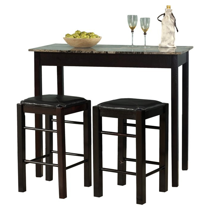 Tappahannock 3 Piece Counter Height Dining Sets Regarding Favorite Winston Porter Sheetz 3 Piece Counter Height Dining Set & Reviews (View 11 of 20)