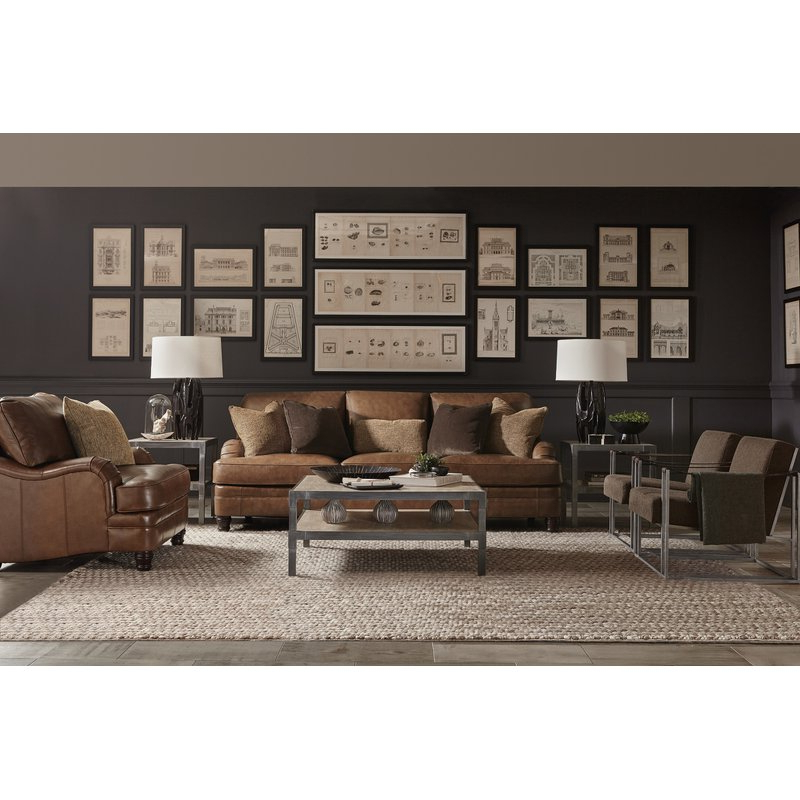 Tarleton 5 Piece Dining Sets With Widely Used Bernhardt Tarleton Leather Sofa (View 9 of 20)