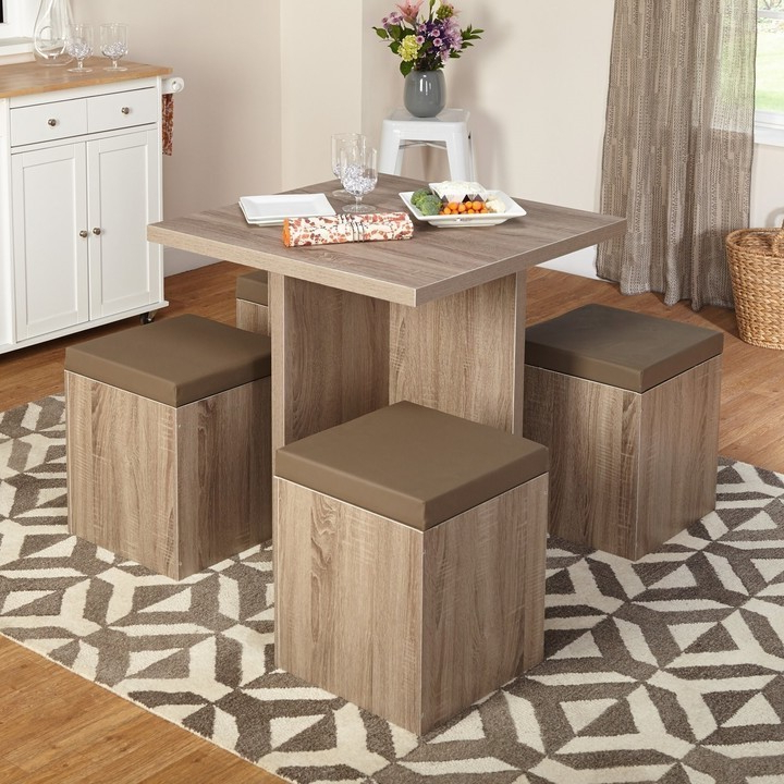 Taulbee 5 Piece Dining Sets In Current Dining Tables For Small Spaces – Small Spaces – Lonny (View 12 of 20)