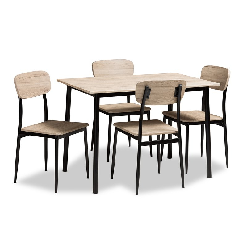 Tejeda 5 Piece Dining Sets Throughout Fashionable Wiggs 5 Piece Dining Set & Reviews (View 4 of 20)