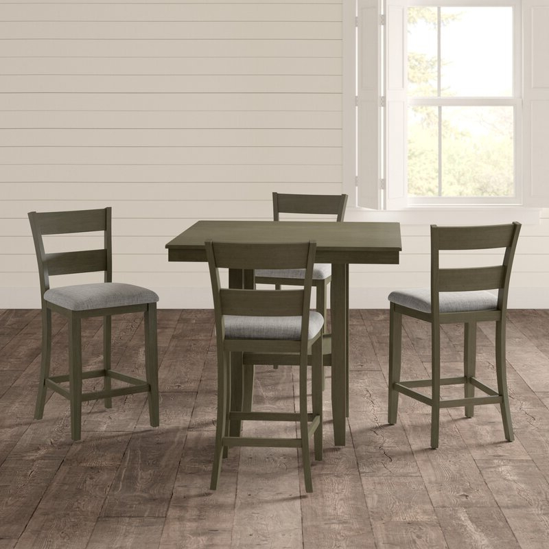 Tenney 3 Piece Counter Height Dining Sets In Well Known Gwyneth 5 Piece Counter Height Dining Set & Reviews (View 12 of 20)