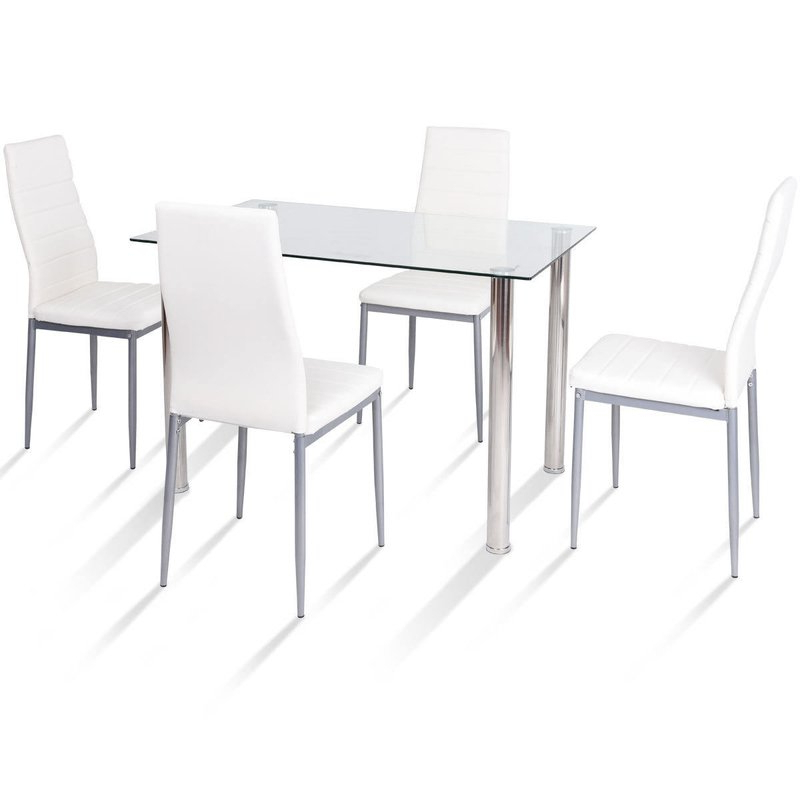 Travon 5 Piece Dining Sets With Regard To Most Recently Released Orren Ellis Travon 5 Piece Dining Set & Reviews (View 1 of 20)