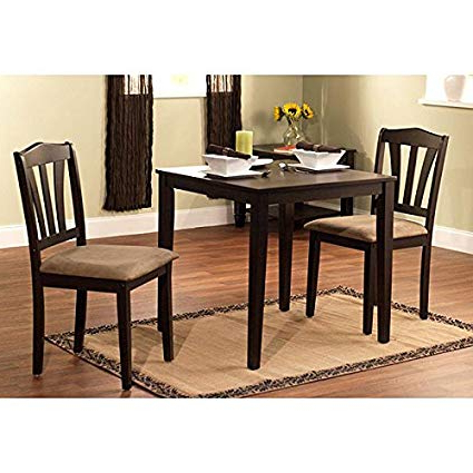 Trendy Amazon – Harewood 3 Piece Dining Set, Constructed Of Sturdy Inside 3 Piece Dining Sets (View 3 of 20)