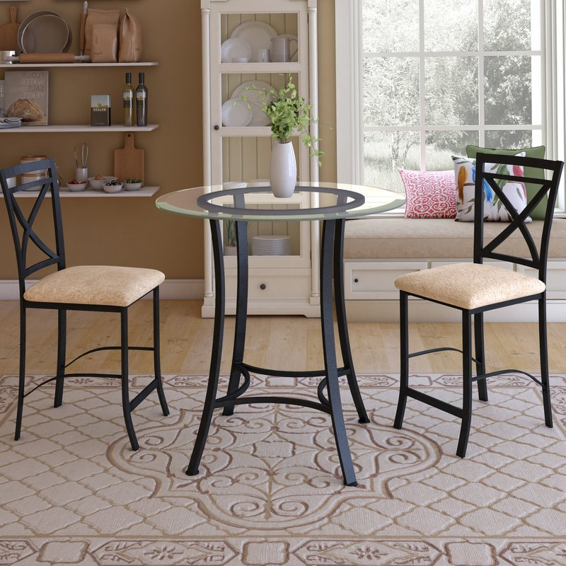 Trendy Nutter 3 Piece Dining Sets Throughout Saleh 3 Piece Dining Set & Reviews (View 17 of 20)