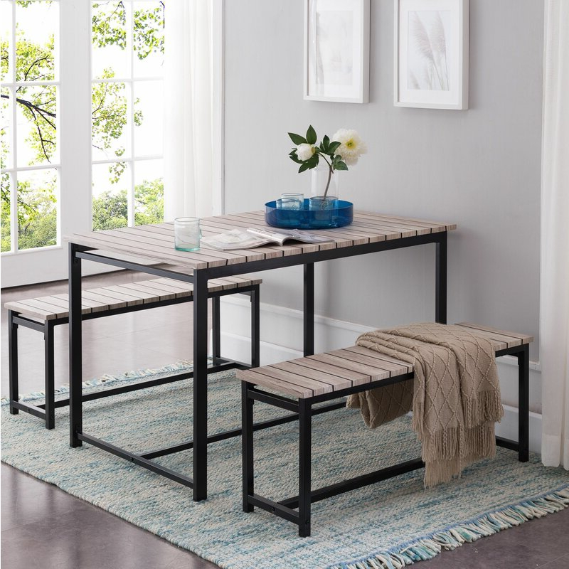 Trendy Partin 3 Piece Dining Sets Regarding Union Rustic Templeton 3 Piece Dining Set (View 10 of 20)
