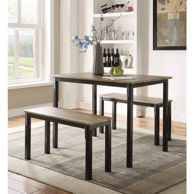 Featured Photo of Rossiter 3 Piece Dining Sets