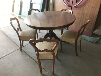 Trendy Shepparton Vintage 3 Piece Dining Sets Intended For Antique Round Table (View 14 of 20)