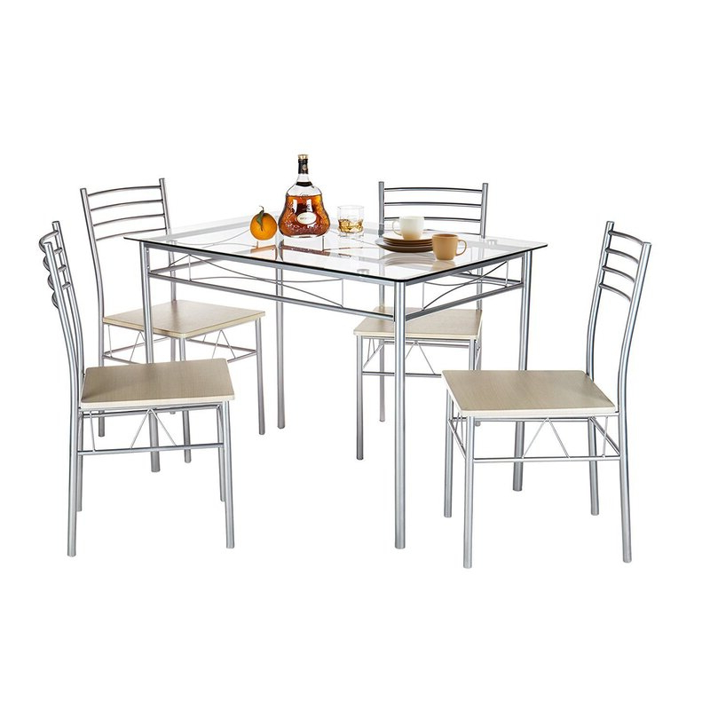 Trendy Turnalar 5 Piece Dining Sets Pertaining To Ebern Designs Liles 5 Piece Breakfast Nook Dining Set & Reviews (View 4 of 20)