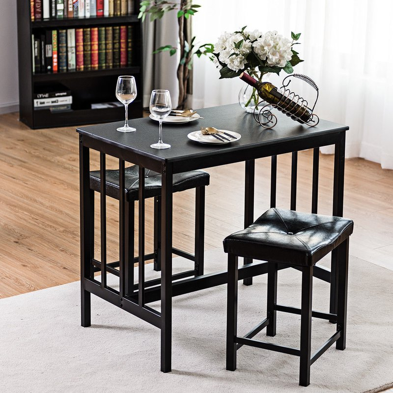 Trendy Winston Porter Miskell 3 Piece Dining Set (View 7 of 20)