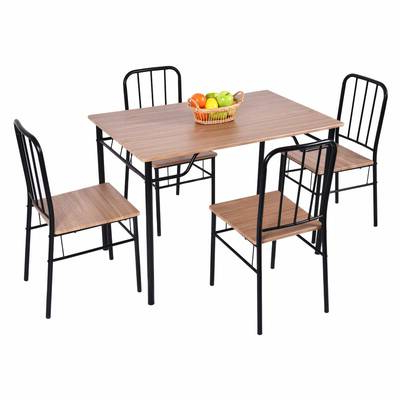 Union Rustic Castellanos Modern 5 Piece Counter Height Dining Set Inside Most Popular Castellanos Modern 5 Piece Counter Height Dining Sets (Gallery 11 of 20)