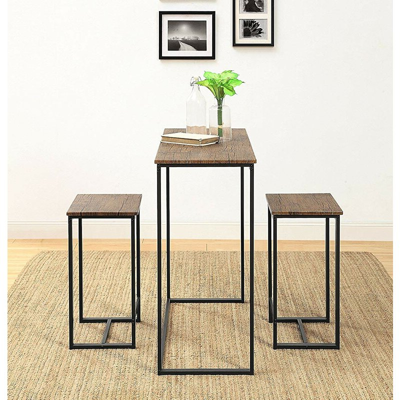 Featured Photo of Saintcroix 3 Piece Dining Sets