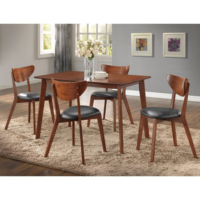 Urijah 5 Piece Dining Set & Reviews (View 8 of 20)