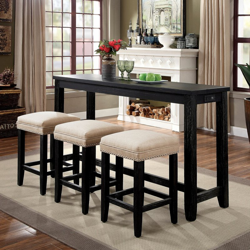 Wallflower 3 Piece Dining Sets In Popular Alcott Hill Skeltincleveland 4 Piece Dining Set (View 10 of 20)